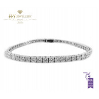 White Gold Brilliant Cut Tennis Bracelet - ref 6.67 ct