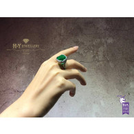 Vivid Green Emerald Ring - 19.96 ct