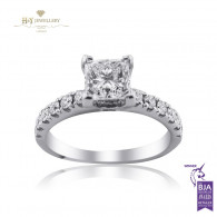 White Gold Solitaire Engagement ring, D , IF