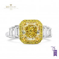 Fancy Yellow Diamond Ring - 3.14 ct