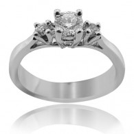 White Gold Classic Trilogy Diamond Engagement Ring