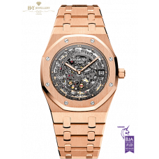 Audemars Piguet Royal Oak Skeleton Face Extra Thin Rose Gold - ref 15204OR.OO.1240OR.01