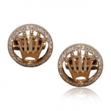 Rolex Design Cufflinks -  Rose Gold DesignWith Brilliant Cut Diamonds