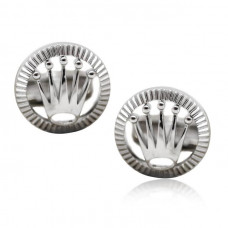 Rolex Design Cufflinks-White Gold Rolex Design